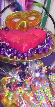 Mardi Gras Birthday Party Sweet Table
