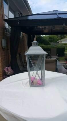 Lantern Centerpiece with Flowers